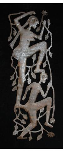 Two Figures Climbing