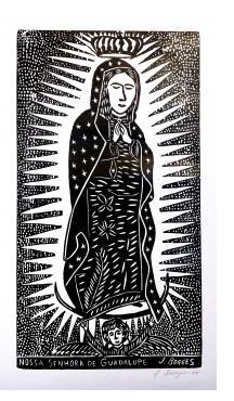 Nossa Senhora de Guadalupe (black and white)