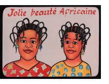 """Jolie Beauté Africaine"" Mini Hairdresser's Sign"