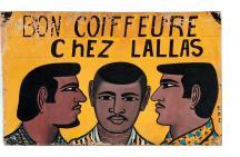 """""""BON COIFFEURE ChEZ LALLAS"""" barber sign"""