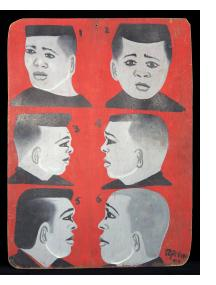 Six Guys - Barber Sign from Cameroun