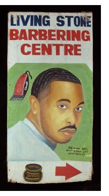 LIVING STONE BARBERING CENTRE - Barber Sign