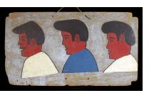 Three Guys - Vintage Hair Sign from Burkina Faso