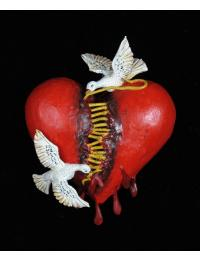 Repairing a Broken Heart - Retablo Ornament