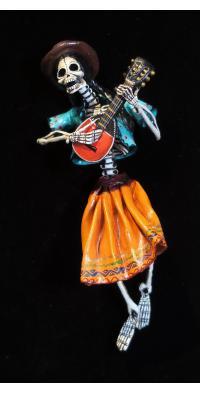 Lute Player of the Dead - retablo figure