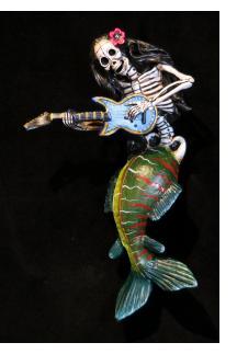 Mermaid Guitarist of the Dead - retablo figure