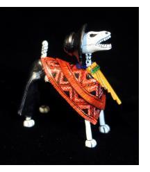 Pan-pipe Calavera Dog - Retablo Figure