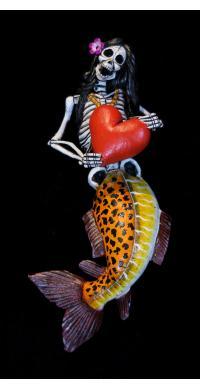 Sirena Calavera - retablo figure