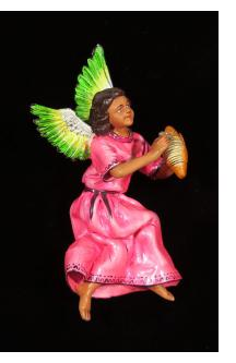 Angel with Guiro - retablo figure
