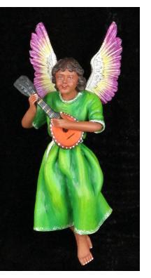 Retablo Angel Musician Ornament (lute)