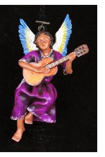 Retablo Angel Musician Ornament (guitar)
