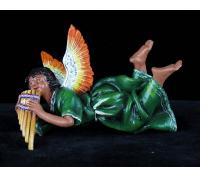 Retablo Angel Musician Ornament (panpipes)