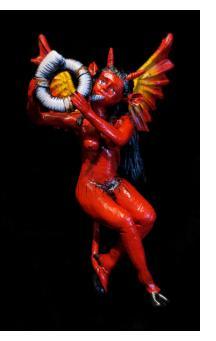 Devil with a Horn - retablo sculpture