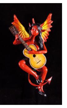 Diabla con Guitarra - retablo sculpture