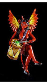 Diabla Drummer - retablo sculpture