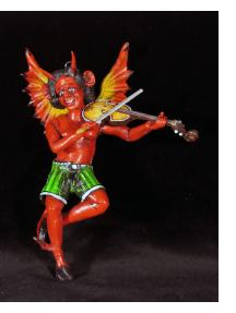 Diablo Fiddler - retablo sculpture