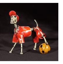 Calavera Dog Soccer Player - Retablo Figure