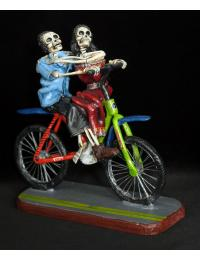 Bike Ride of the Dead IV - retablo sculpture