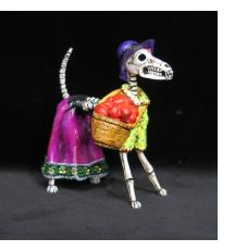 Calavera Valentine Dog - Retablo Figure