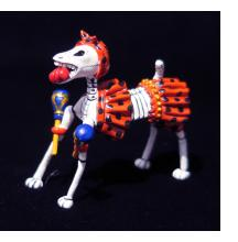 Calavera Dog with Maracas - Retablo Figure