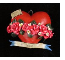 """Te Adoro"" Retablo Heart Ornament"