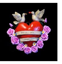 """""""Juntos por Siempre"""" Retablo Heart Ornament"""