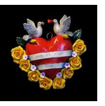 """""""Eres Mia y Soy Tuyo"""" Retablo Heart Ornament"""