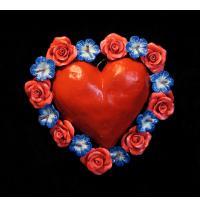 Heart with Flowers Retablo Ornament