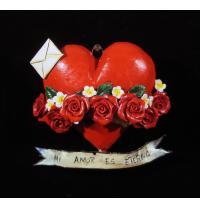 """""""Mi Amor Es Eterno"""" Retablo Heart Ornament"""