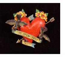 """Con Amor Para Ti"" (With love for you) Retablo Heart Ornament"