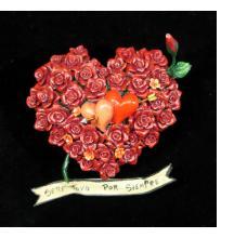 """Sere Tuyo Por Siempre"" (I will be yours for always) Retablo Heart Ornament"