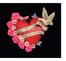 """""""Te Amo como a nadie en el Mundo"""" (I love you like nothing in the world) Retablo Heart Ornament"""