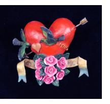 """Amo Mio"" (My Love) Retablo Heart Ornament"