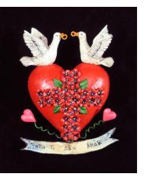 """Para Ti con Amor"" (For you with love) Retablo Heart Ornament"