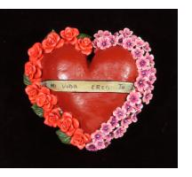 """Mi Vida Eres Tu"" (You are my life) - Retablo Heart Ornament"