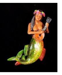 La Sirena with Mandolin - Retablo Ornament