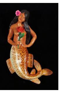 La Sirena con Rosas - Retablo Ornament