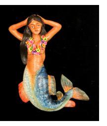 La Sirena with Lei - Retablo Ornament
