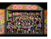 Cantina de los Muertos (Cantina of the Dead) - Retablo (Version 5)