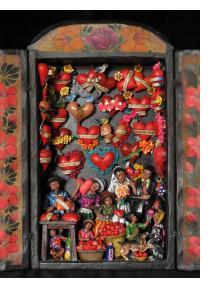 Taller de Corazones (Bride and Groom in the Valentine Workshop)