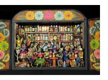Cantina de los Muertos (Cantina of the Dead) Retablo (version 7)