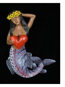 La Sirena con Corazon - Retablo Ornament