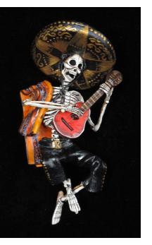 Mariachi Muerto - Retablo figure