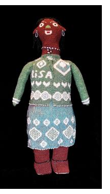 """Lisa"" - Beaded Doll from Capetown"
