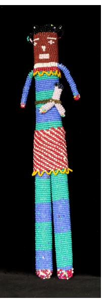 """Beaded """"Tall Doll"""" with Baby from Capetown"""