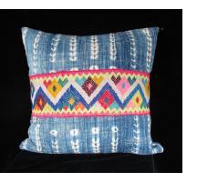 Vintage African Indigo and Peruvian Textile Pillow