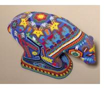 Bear - Huichol Beaded Sculpture