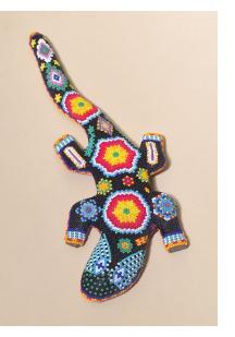 Gecko - Huichol Beaded Sculpture