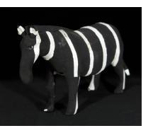 Medium Flip-flop Zebra - black & white