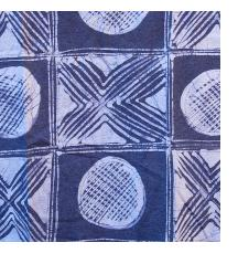 Batik and Indigo Tie-dye T-shirts by Gasali Adeyemo of Nigeria
